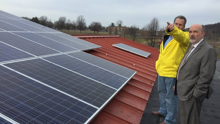 Installation of City of Troy's Solar Energy System Underway