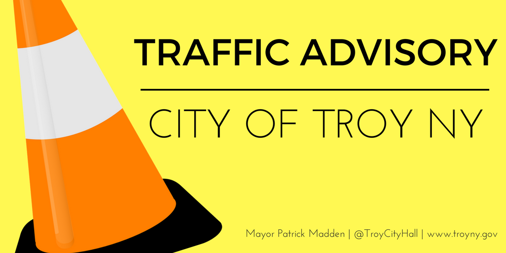 Troy Officials Issue Traffic Advisory for Street Paving on Brunswick Road