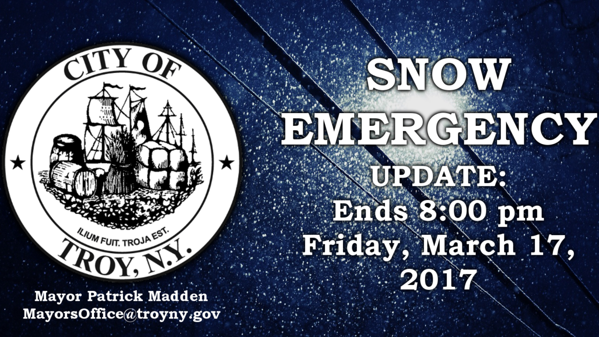 Mayor Madden Issues Update on Conclusion of Snow Emergency