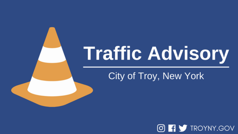 Troy Officials Issue Traffic Advisory for Roadway Striping