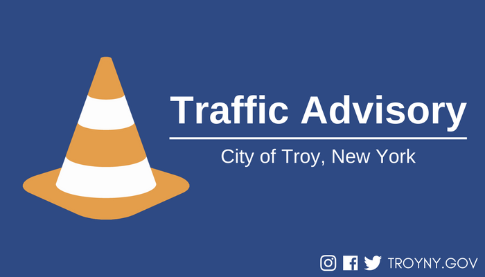 Troy Officials Issue Traffic Advisory for Burdett Avenue