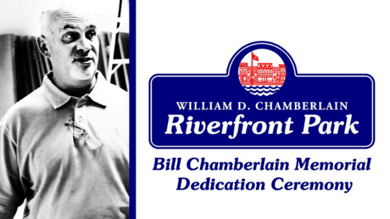 Mayor Madden Announces Dedication of Riverfront Park to William D. Chamberlain
