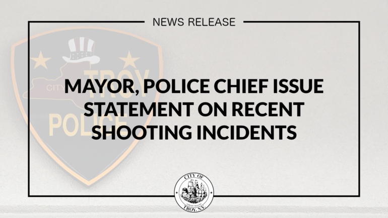 Mayor, Troy Police Issue Statement on Recent Shooting Incidents