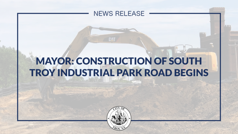 Mayor Madden Announces Start of Construction on South Troy Industrial Park Road