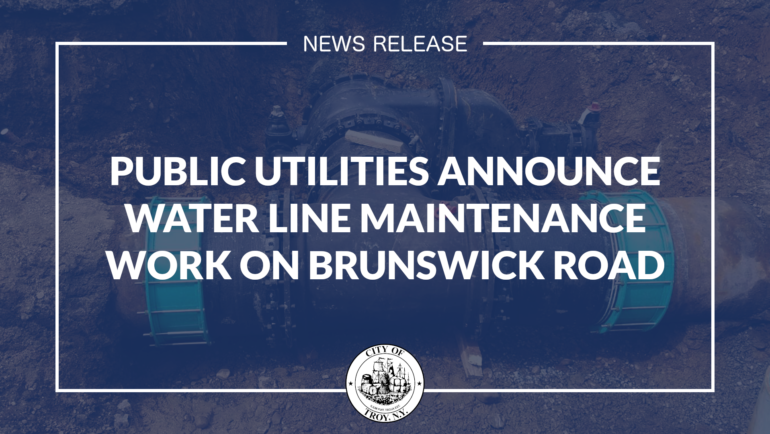 Public Utilities Announce Water Line Maintenance Work on Brunswick Road