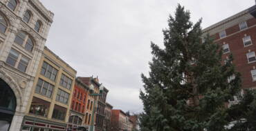 2020 Christmas Tree Delivered to Monument Square for Display During Holiday Season