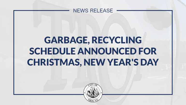 City Officials Announce Garbage, Recycling Collection Schedule for Christmas, New Year's Holidays