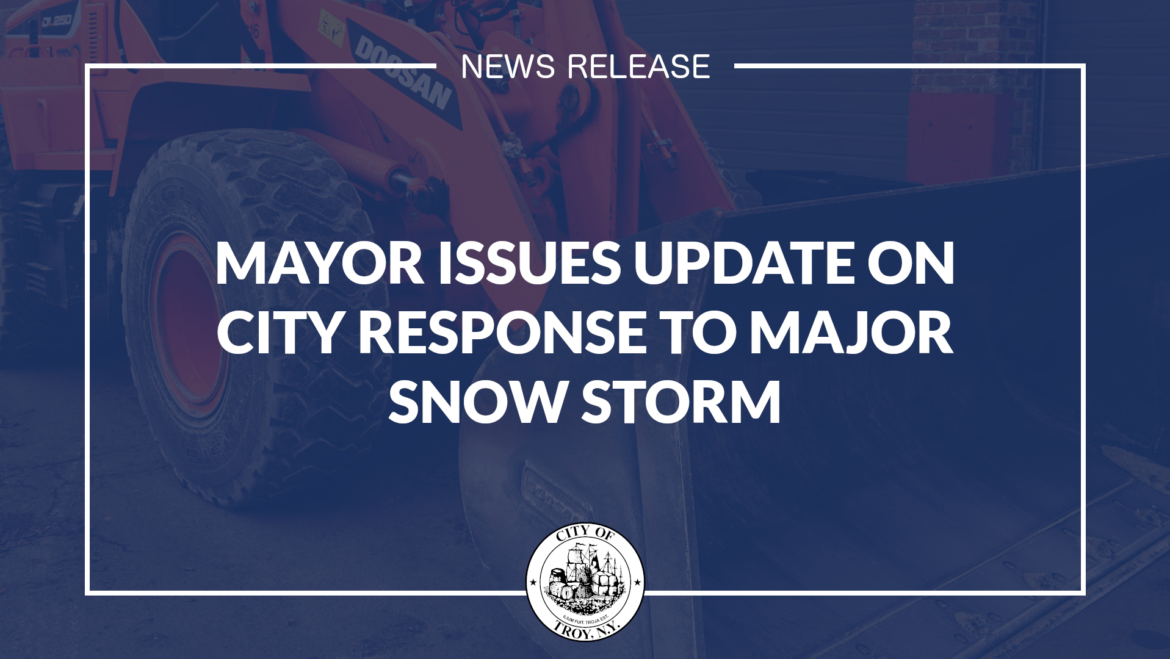 Mayor Madden Issues Update on City Response to Major Snow Storm