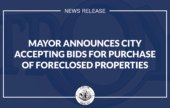 Mayor Madden: City Accepting Bids for Purchase of City-Owned Foreclosed Properties