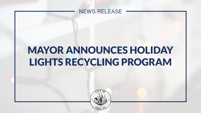 Mayor Madden Announces Holiday Lights Recycling Program