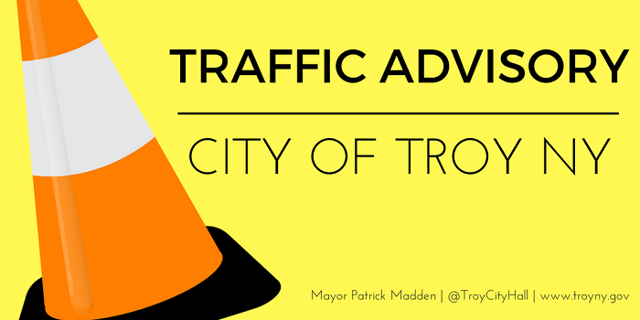 Troy Officials Issue Traffic Advisory for Spring Avenue