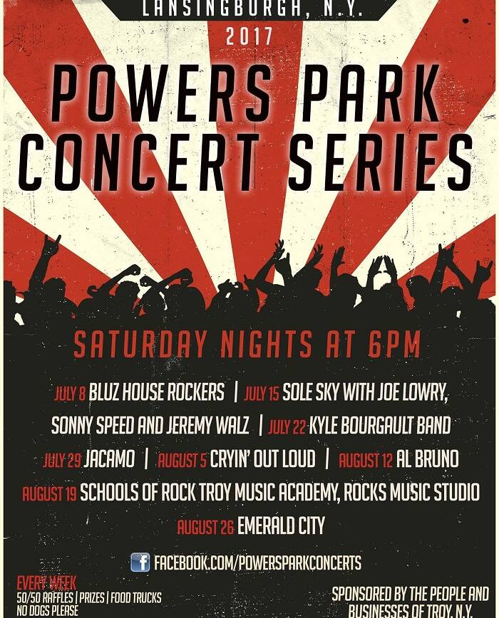 Powers Park Concert Series Set to Electrify Troy for 2017 Summer Concert Season