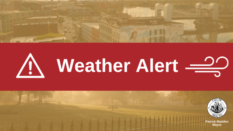 Weather Alert: Wind Advisory, Flood Watch Issued for Troy/Rensselaer County
