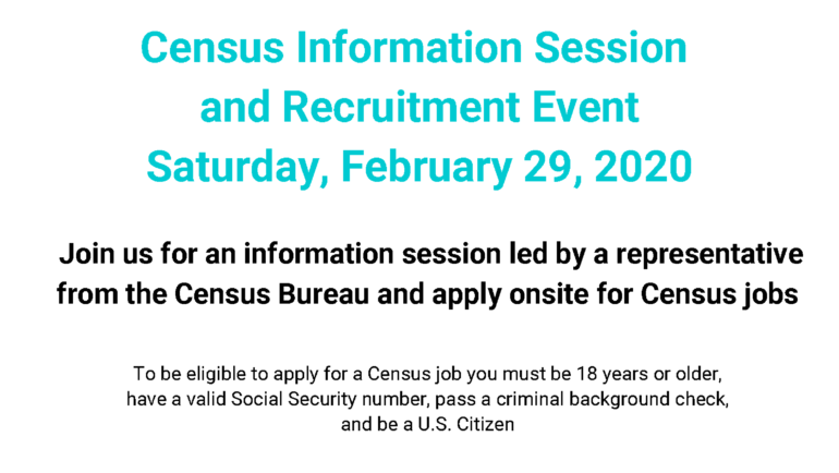 U.S. Census Informational & Recruitment Event