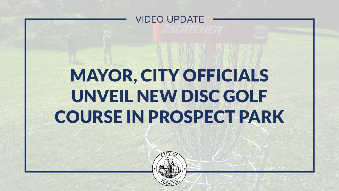 Video: Mayor Madden Announces Opening of Disc Golf Course in Prospect Park