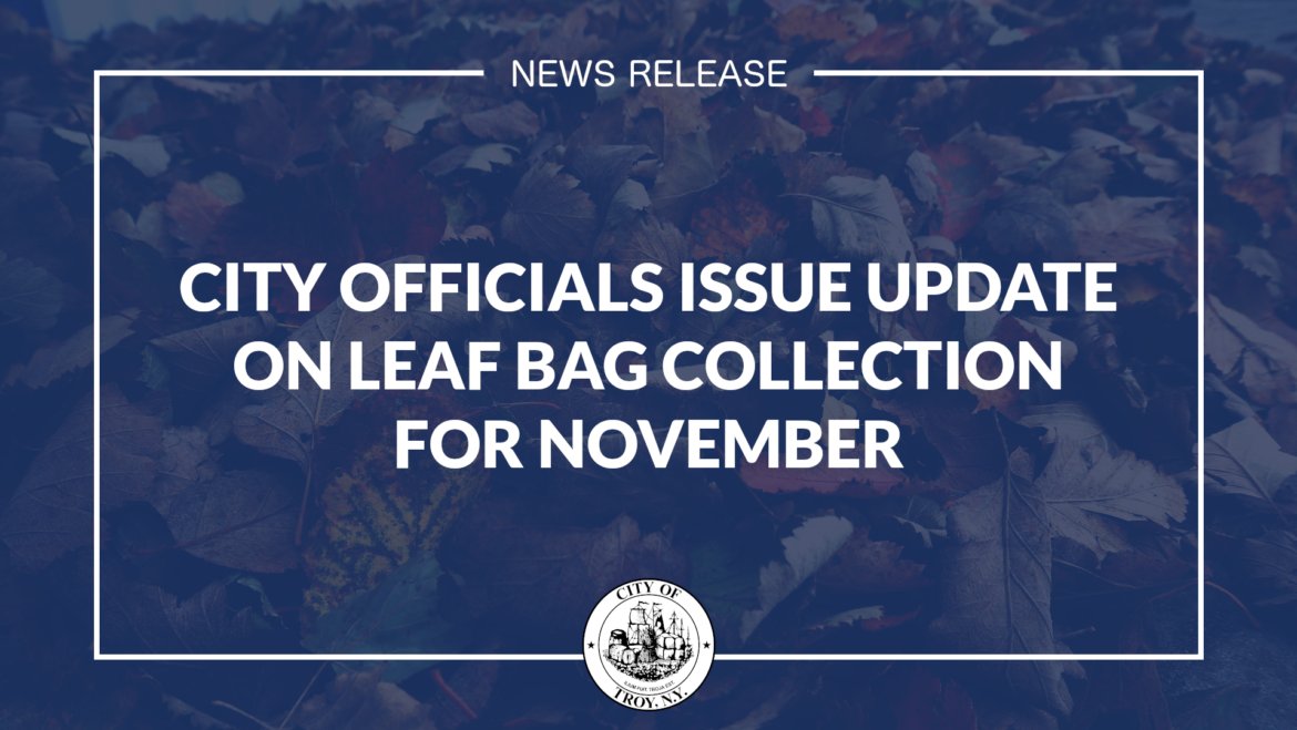 City Officials Issue Update on Leaf Bag Collection for November