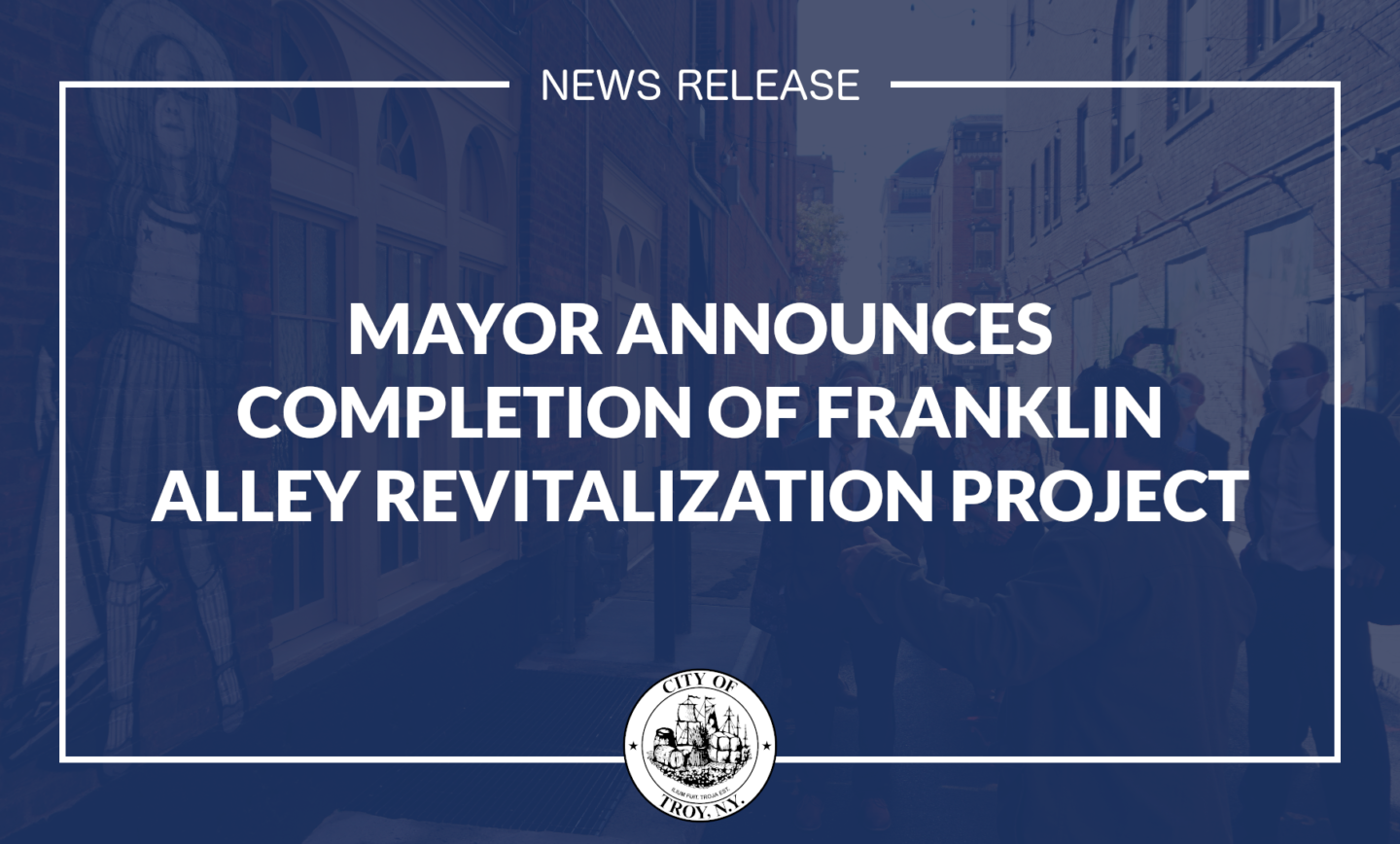 Mayor Madden Announces Completion of Franklin Alley Revitalization Project