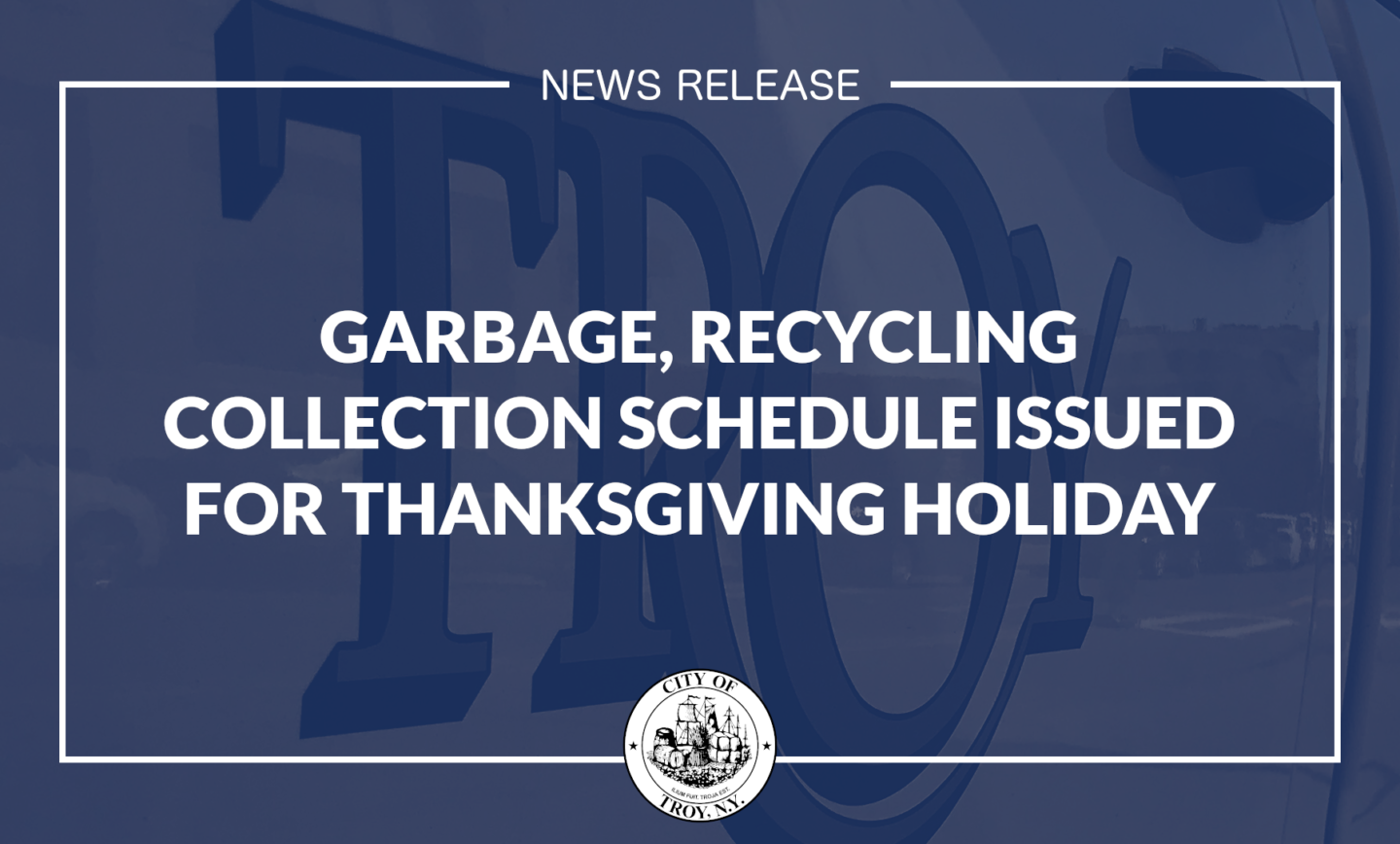 City Officials Issue Updated Garbage, Recycling Collection Schedule for Thanksgiving Holiday