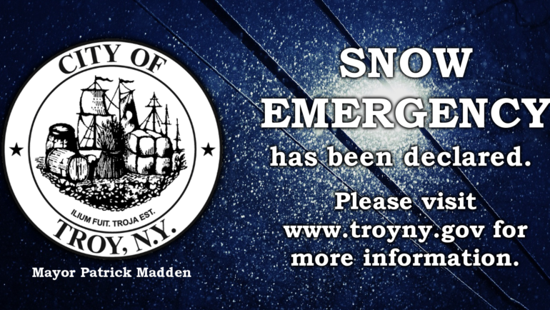 Mayor Madden Declares State of Emergency, Activates Snow Emergency in City of Troy