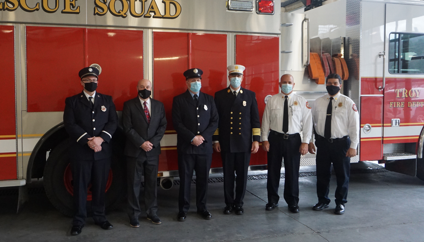 Troy Fire Department Promotes New Captain, Lieutenant