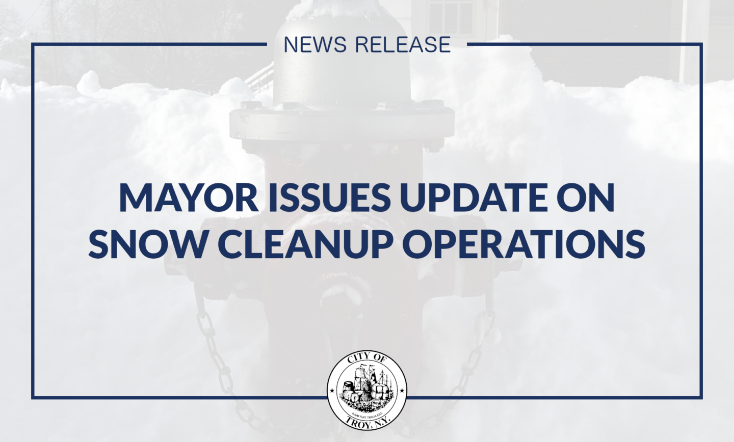 Mayor Madden Issues Update on Snow Cleanup Operations