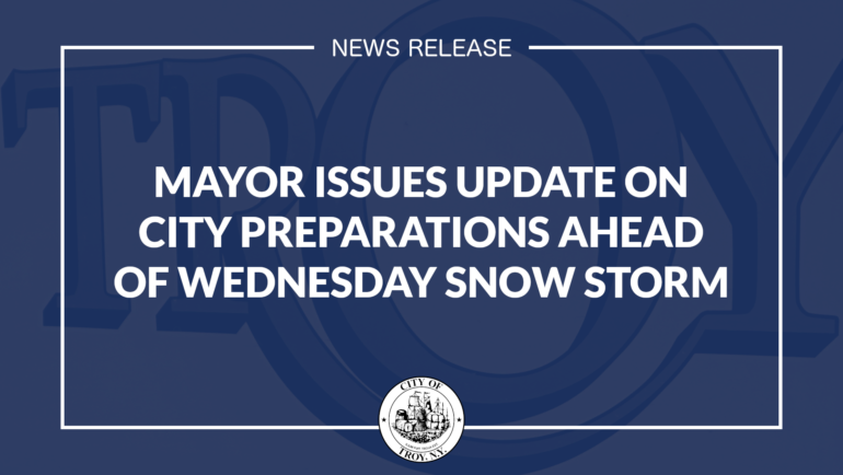 Mayor Madden Issues Update on City Preparations Ahead of Wednesday Snow Storm