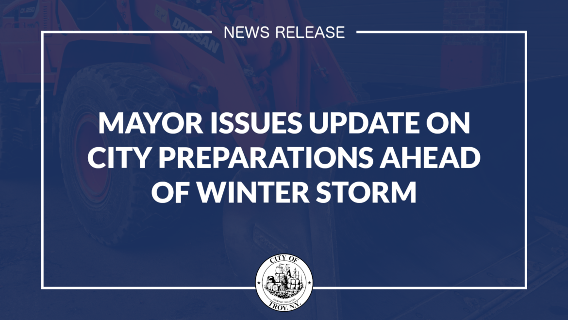 Mayor Madden Issues Update on City Preparations for Winter Storm