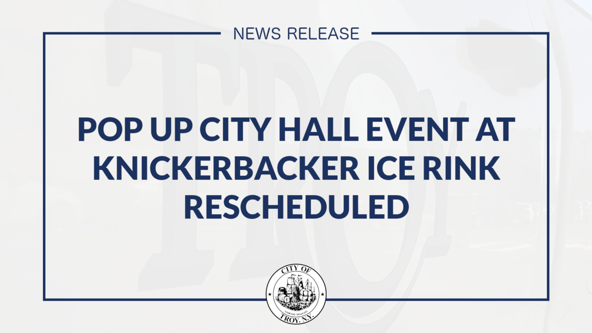 Pop Up City Hall Property Tax Payment Event at Knickerbacker Ice Arena Rescheduled