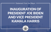 Mayor Madden Issues Statement on Inauguration of Joe Biden and Kamala Harris