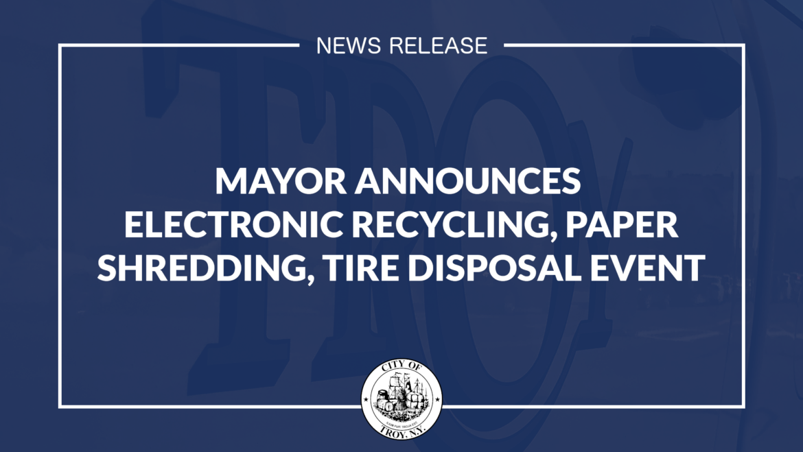 Mayor Madden Announces Free Collection of Electronics, Confidential Document Shredding