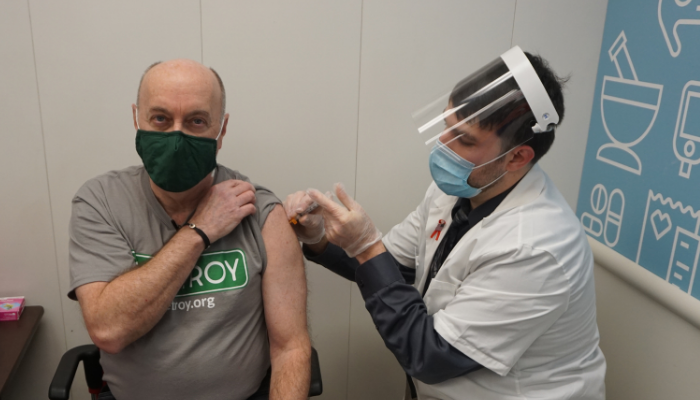 Mayor Patrick Madden Receives COVID-19 Vaccine, Encourages Eligible Troy Residents to Schedule Appointment