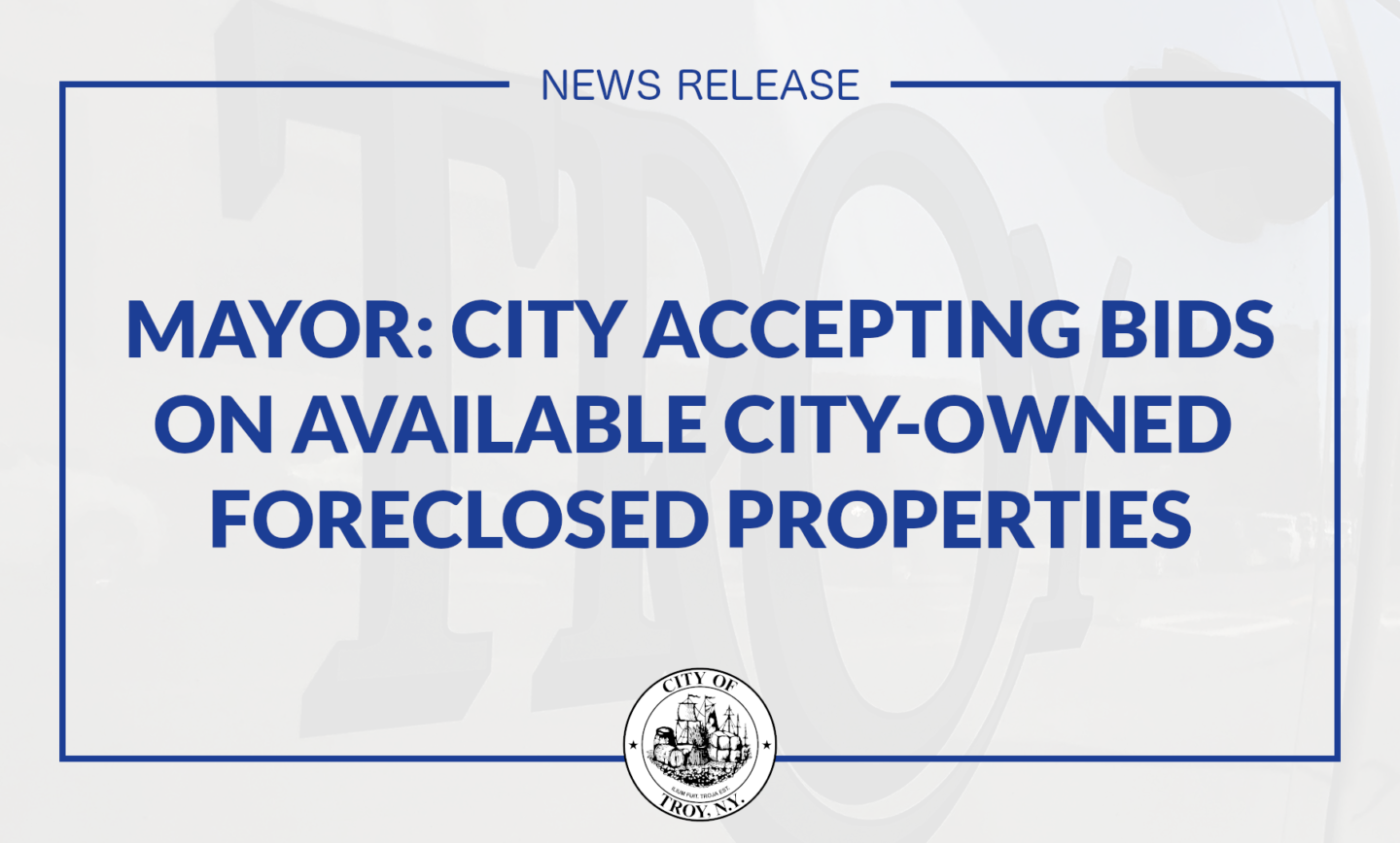 Mayor Madden: City Accepting Bids on Available City-Owned Foreclosed Properties
