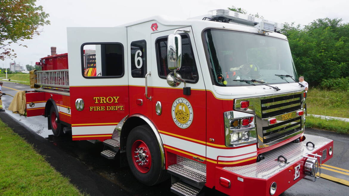 Mayor Madden Announces Delivery of New Fire Engine, Third New Apparatus for the Troy Fire Department in Three Years