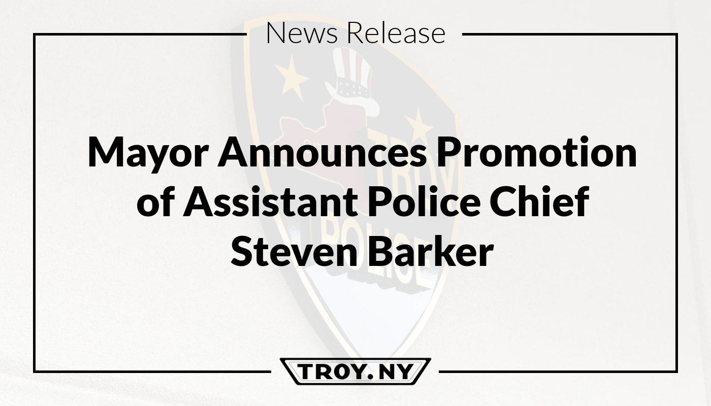 Mayor Madden Announces the Promotion of Steven Barker to the rank of Assistant Chief of Police