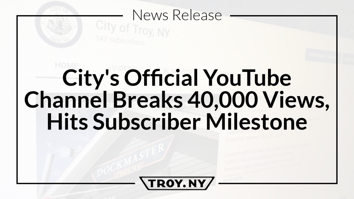 Mayor Madden: City's Official YouTube Channel Breaks 40,000 Views, Hits Subscriber Milestone